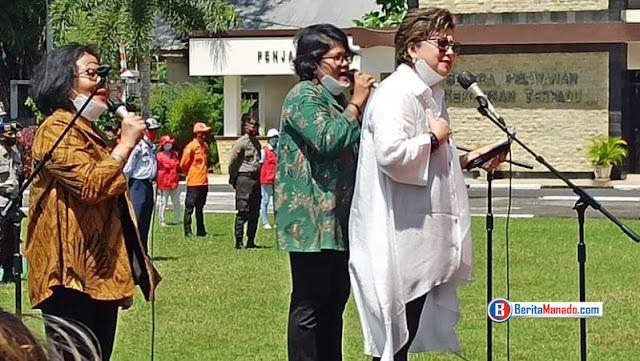 Senator Maya Rumantir, Diundang Khusus Kapolda Sulut Launching Gerakan Sejuta Masker