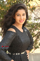 Telugu Actress Pavani Latest Pos in Black Short Dress at Smile Pictures Production No 1 Movie Opening  0235.JPG