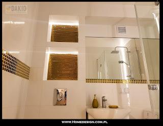 biało złota łazienka