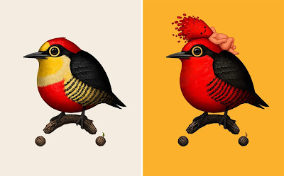 New Fat Bird, Food Dude & Mikeland Giclee Prints by Mike Mitchell