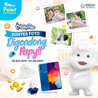 Kontes Foto Digendong Papy Berhadiah Samsung A50 128GB