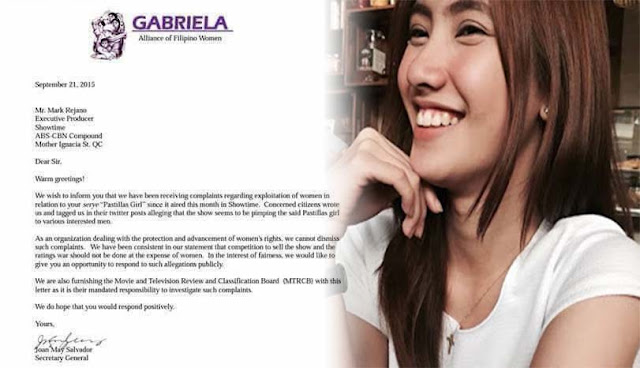 Gabriela Partylist Calls Out Its Showtime Regarding the Show's 'Pimping' of Pastillas Girl
