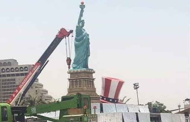 Statue of Liberty installed at Jeddah's Al Hamra Corniche in Saudi Arabia