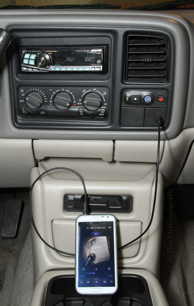Prairie Rim Road: Smartphone input to an Alpine stereo
