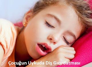 Çocuğun Uykuda Diş Gıcırdatması