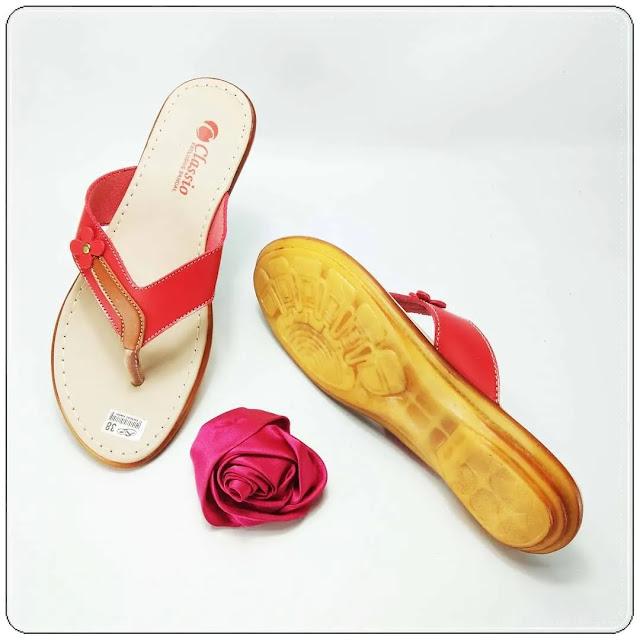 Grosirsandalmurah.org -Sandal Imitasi kulit Wanita - CS Japit Karet