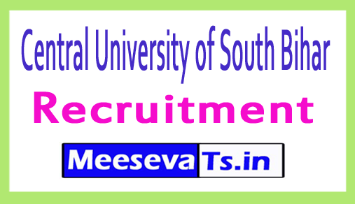 Central University of South Bihar CUSB Recruitment