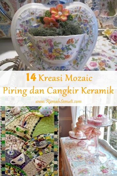 14 Kreasi Mozaik dari Piring dan Cangkir Keramik