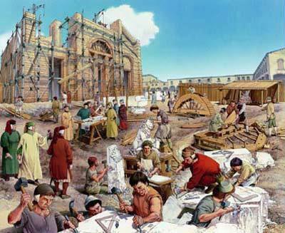 Construção do segundo Templo liderado por Exdras e Neemias.  Jesus confirma tanto sua visão como a do profeta Daniel na aplicação escatológica da expressão. Acontecimentos da Primeira Revolta Judaica, que culminaram com a destruição de anos 70 d.C.