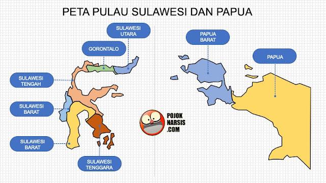 peta pulau sulawesi dan papua pptx