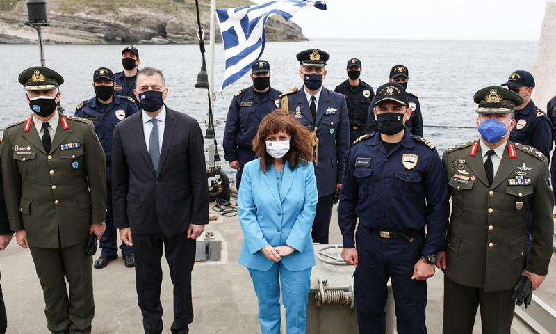Κ. Σακελλαροπούλου από τον Άη Στράτη: Η χώρα μας θα βγει πιο δυνατή και ενωμένη και από αυτή την κρίση