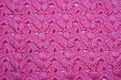4 - Crochet Imagen Puntada preciosa con punto puff y abanicos por Majovel Crochet