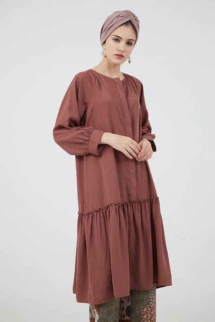 Ikita Long Dress Brown