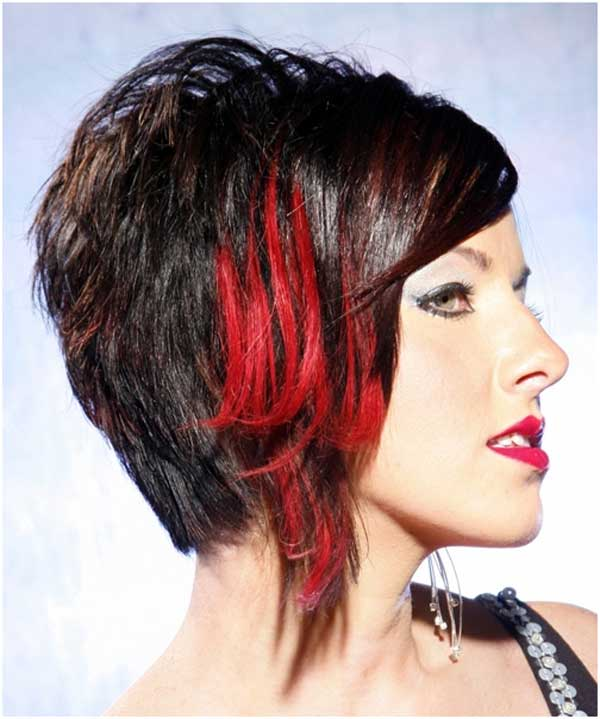 Reddish brown hair color with highlights hair color highlighting short black hair with red highlights pmusecretfo Image collections