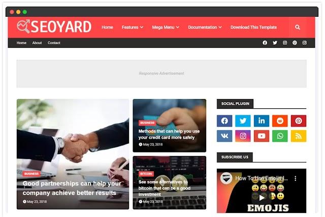 SeoYard Blogger Template | Google Blog Template 2020