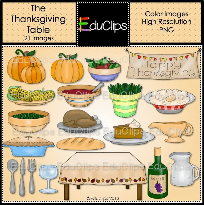 clipart thanksgiving table - photo #24