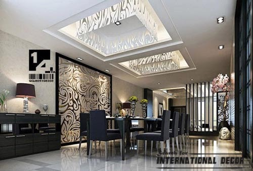 classic interior design, modern classic dining room,false ceiling interiors