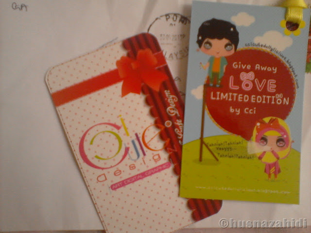 hadiah giveaway, bookmark, ccicutedollylicious