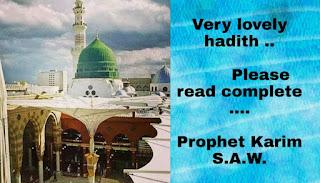 Very lovely hadith ..