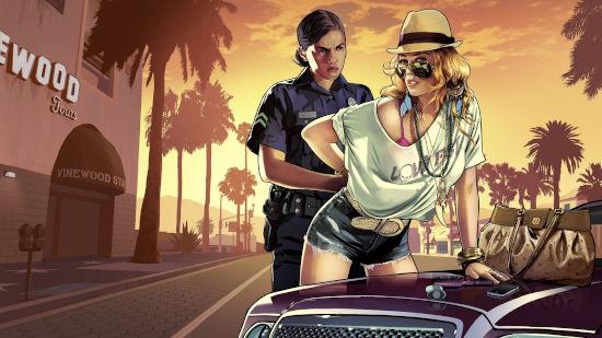 Grand Theft Auto V - Girl Cop Arrest - Full HD 1080p