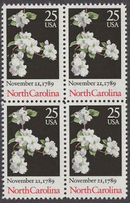 US Block Of 4 - North Carolina Ratification