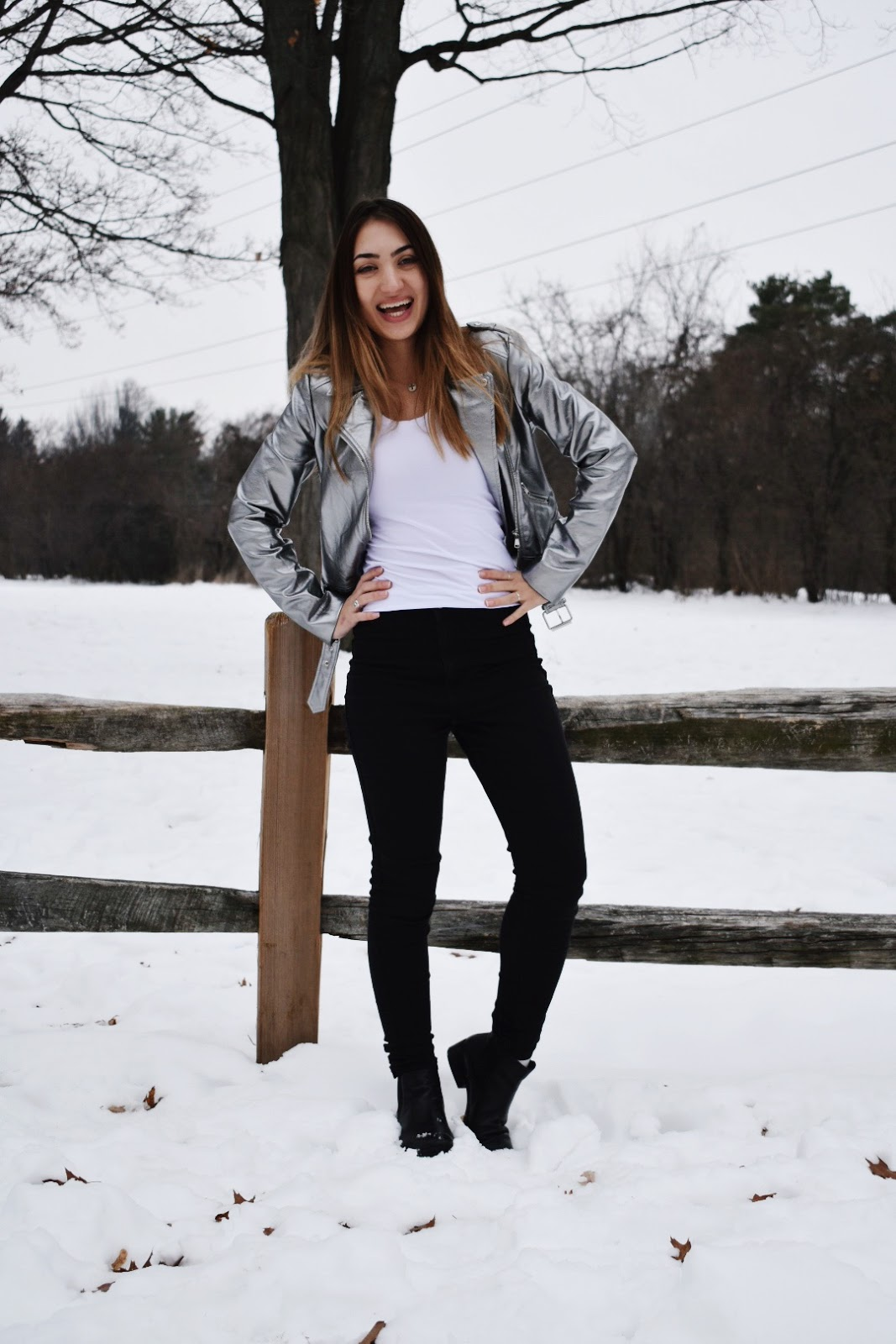 The Metallic Moto Jacket for Wintertime