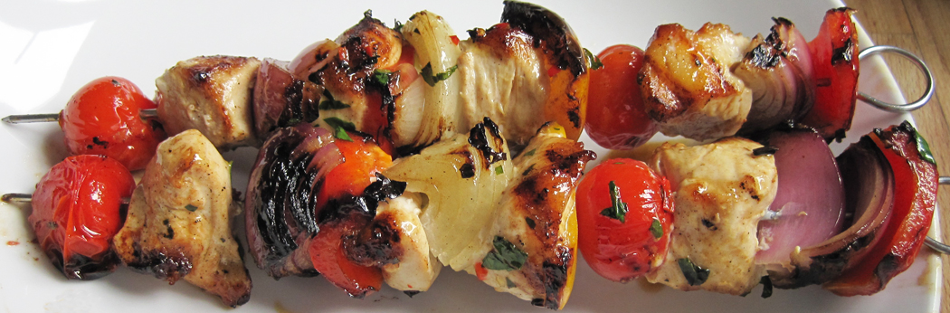 Chicken Skewers with Chilli Butter