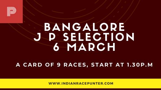 Bangalore Jackpot Selections 6 March