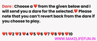 Play Top 5, Latest whatsapp dare game With Your Friends And Family.