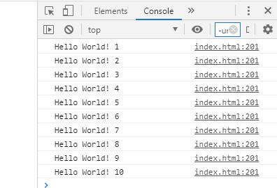 Gambar contoh program pengulangan while di javascript yang bisa dihentikan oleh user