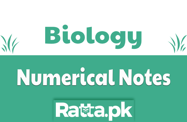 MDCAT Biology Numerical Notes Key points