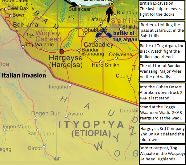 East Africa Road Map.A Wargamer In Cyprus Chain Of Command East Africa In 20mm