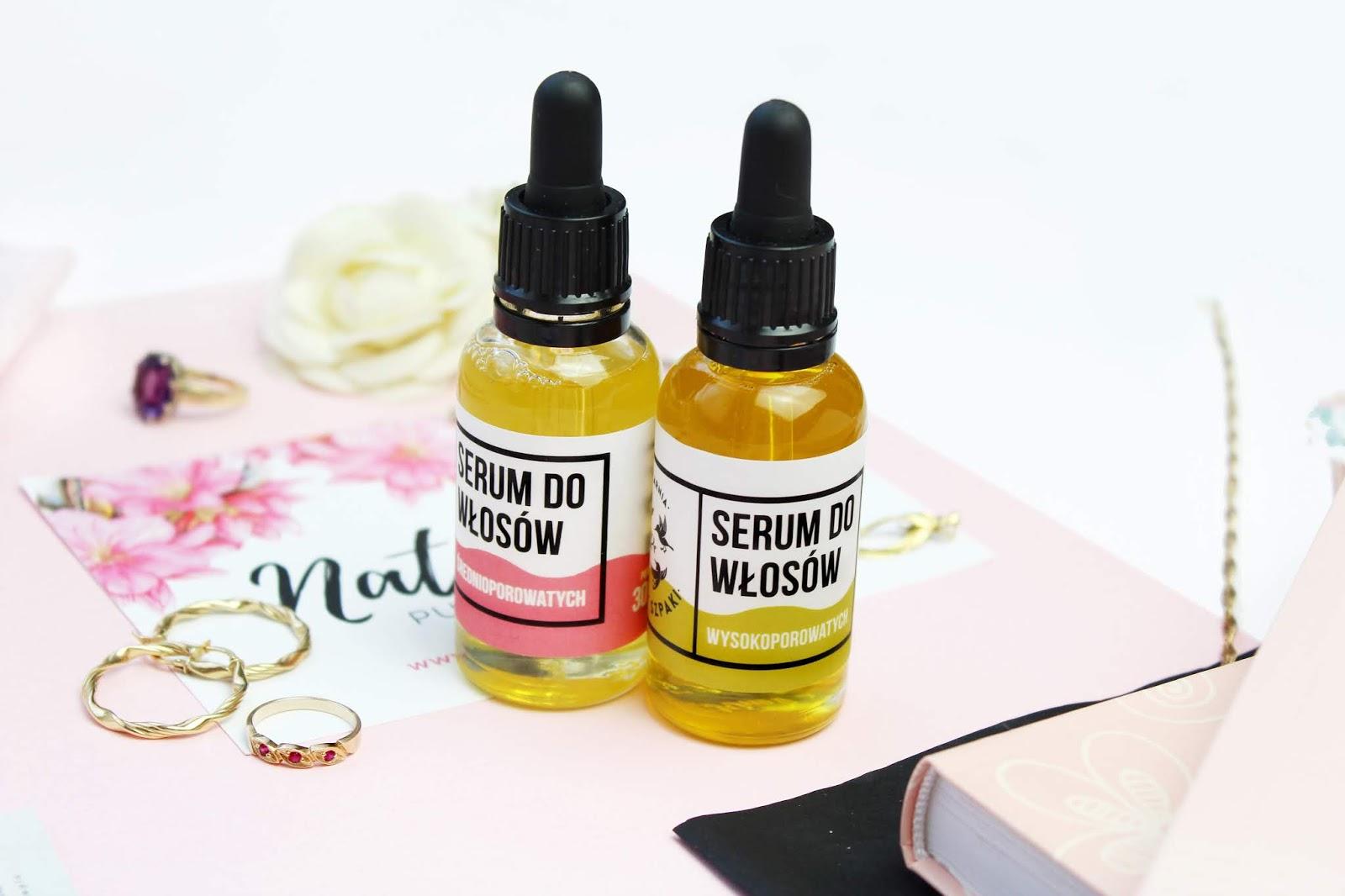 Mydlarnia Cztery Szpaki, Sera na bazie olejków dla włosów średnio oraz wysokoporowatych