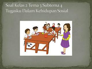 Soal Tematik Kelas 2 Tema 3 Subtema 4 Tugasku Sehari-hari