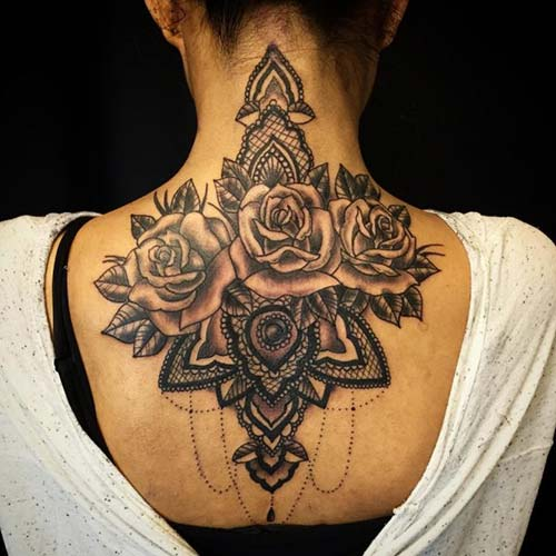 dantel dövmeleri lace tattoos 17