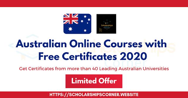 دورات أسترالية عبر الإنترنت بشهادات مجانية | عرض محدود - التسجيل قبل 30 يونيو 2020