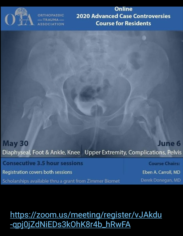 Online 2020 Advanced Case Controversies Course for Residents Orthopaedic