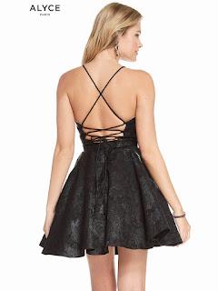 Plunging Neckline Alyce Homecoming Short Dress Back Side