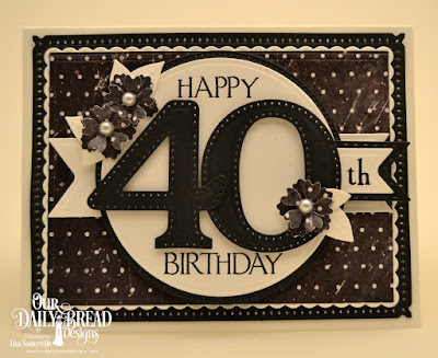 Our Daily Bread Designs Stamp Set: Celebration, Custom Dies: Large Numbers, Pierced Circles, Circles, Circle Scalloped Rectangles, Rectangles, Snowflake Sky, Pennant Flags, Double Stitched Pennant Flags, Bitty Blossoms,Paper Collection: Chalkboard