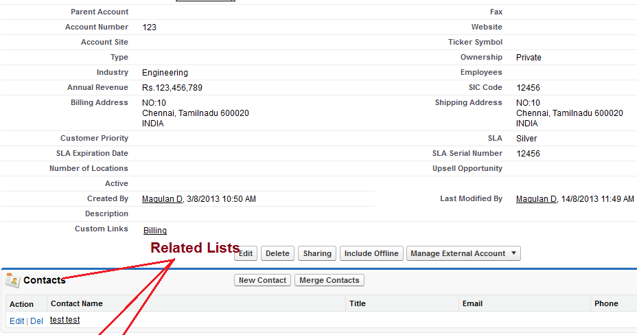 Infallible Techie What Is A Related List In Salesforce