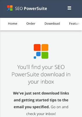 رسالة مابعد الإنتهاء من طلب برنامج seo powersuite