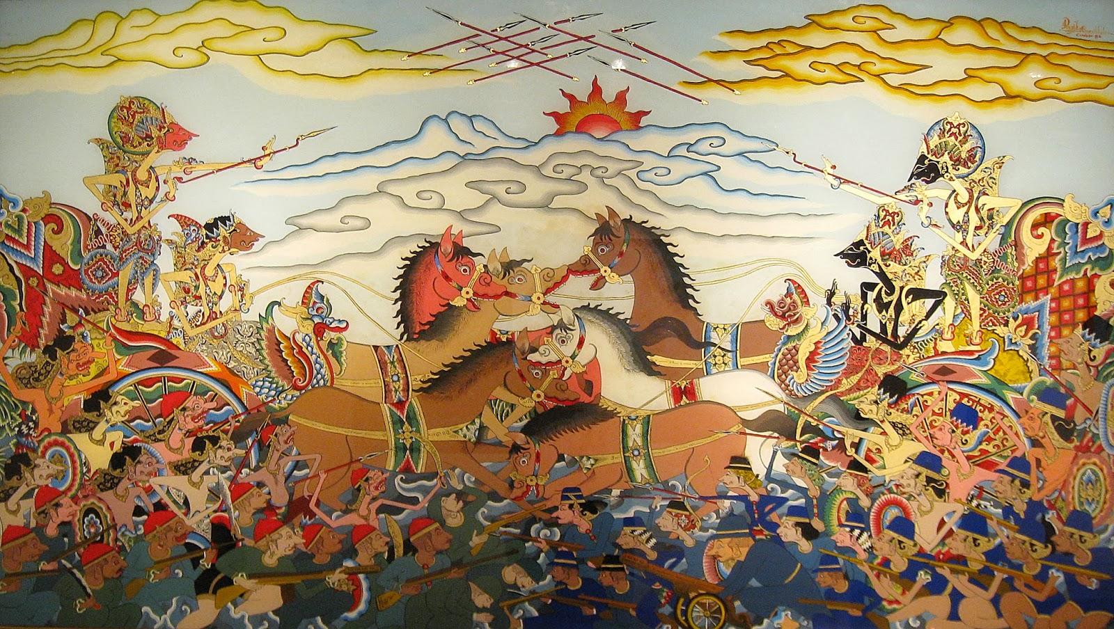 Ilustrasi wayang kekayaan budaya Indonesia