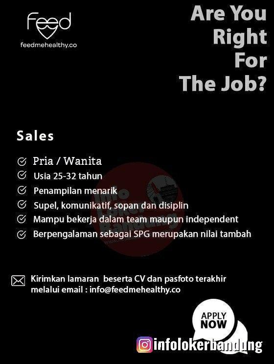 Lowongan Kerja Sales Feedmehealthy Bandung February 2020