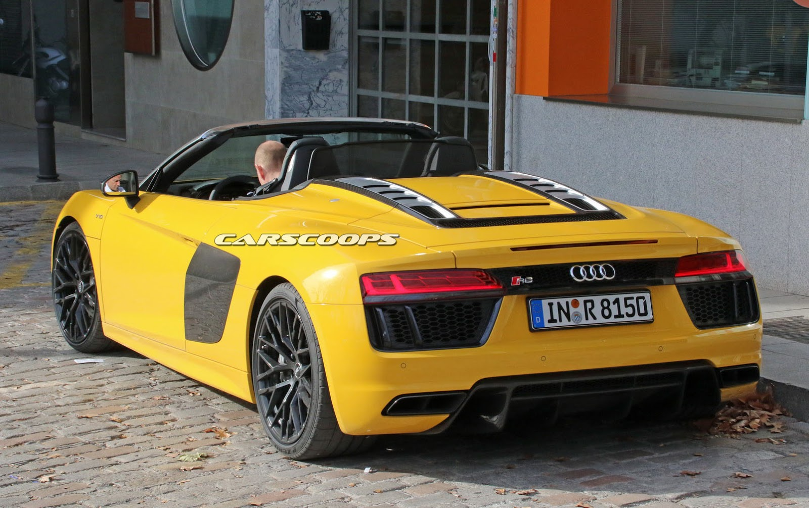 all new 2017 audi r8 spyder this is it carscoops. Black Bedroom Furniture Sets. Home Design Ideas
