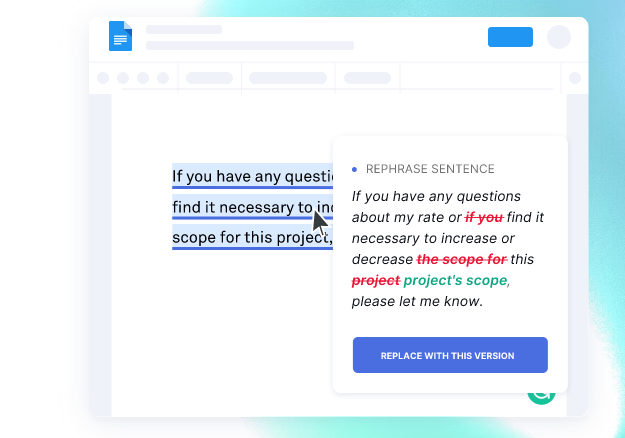 grammarly correct writing mistakes