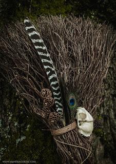 Cat Besom Broom, Broomstick, Aker Dantzaria, Mandragoreae by Victoria Francés