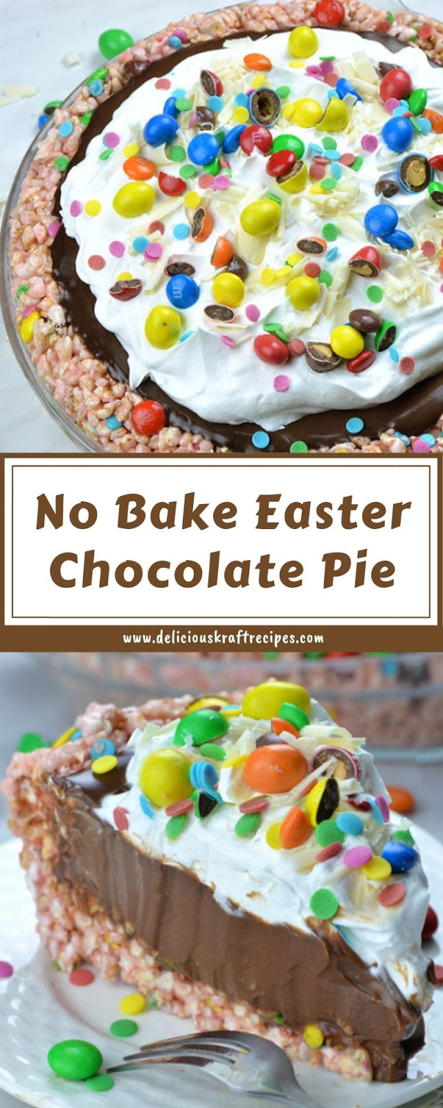 No Bake Easter Chocolate Pie