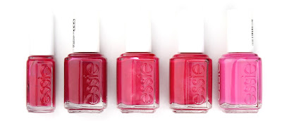 essie nail polish varnish haute in the heat plumberry fruit sangria strawberry sorbet mod square