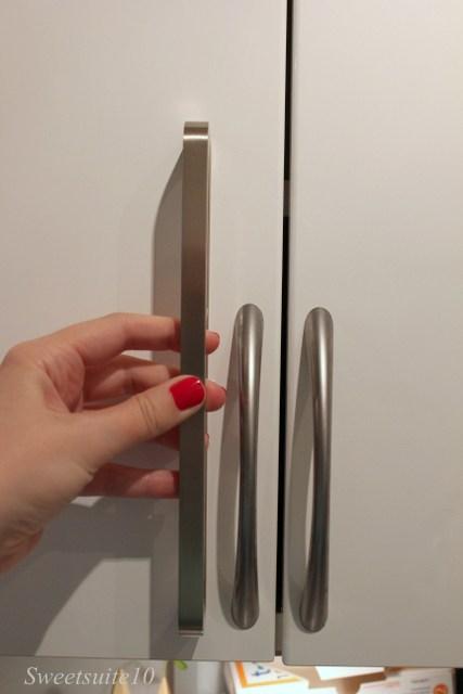 Ikea Spann and Tag handles on an Ikea Abstrakt Kitchen cabinet
