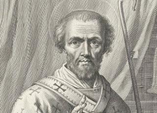 Portret van H. Johannes Chrysostomus, Nicolas Pitau (I), after Jean-Baptiste de Champaigne, 1644 - 1671